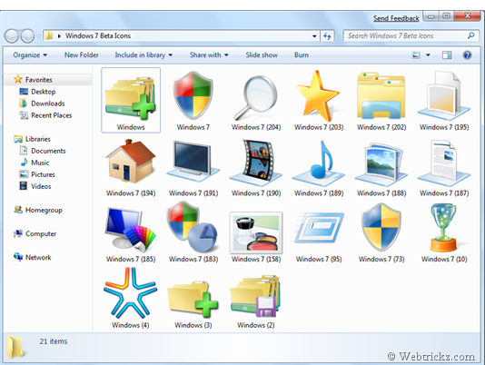 Windows 7 Beta Icon Pack