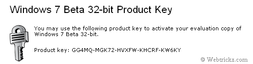 windows7 beta product key