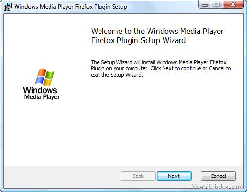 Windows Media Player Firefox Plugin
