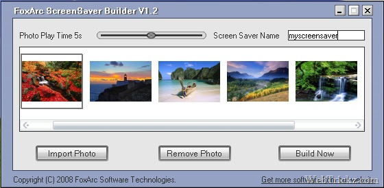 foxarc_screen_saver_builder - create desktop screensaver tool