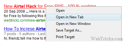 How to Fix 'Open in New Tab/Window' problem in IE8 ?