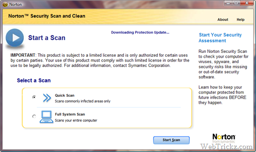 Norton Security Scan and Clean