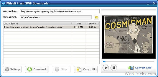 Free Flash SWF Downloader & Converter