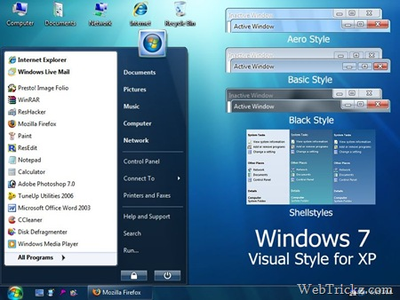 Windows 7 Visual Style for XP
