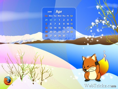 April 2009 wallpapers with & without calendar