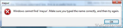 copying text from error messages
