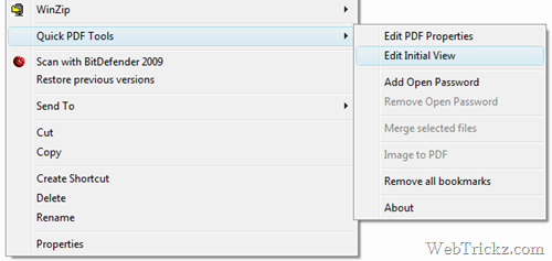 easliy access from windows explorer menu