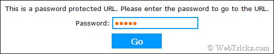 enter password box