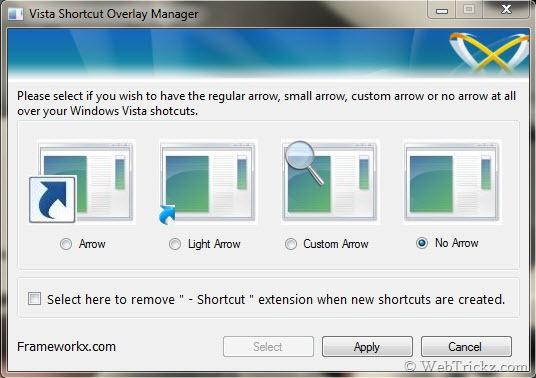 Vista Shortcut Overlay Manager