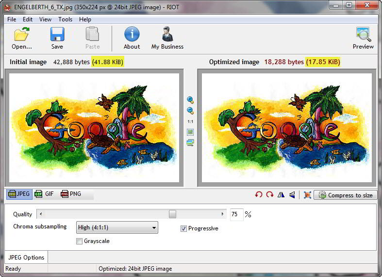 Optimize your images for the web