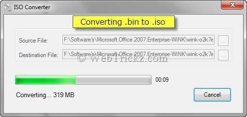 Convert image files to .iso
