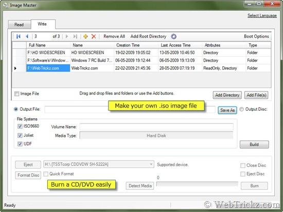Make an .iso image or burn a CD/DVD