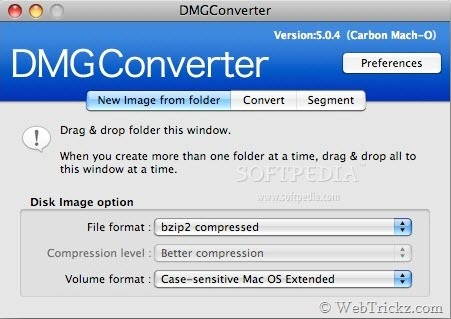 DMGConverter - Convert DMG, CDR, ISO Images on Mac