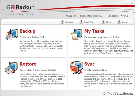 Free utility to Backup and Restore your data