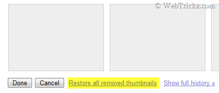 Remove Thumbnails on New page