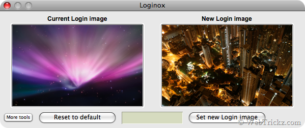 Change the login background image of MAC OS X