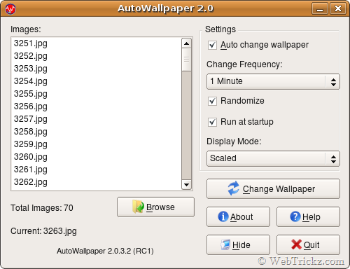 AutoWallpaper for linux