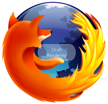 new firefox 3.5 redesigned draft logo