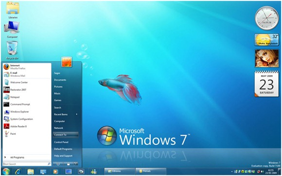 Windows 7 visual style for Vista by sagorpirbd