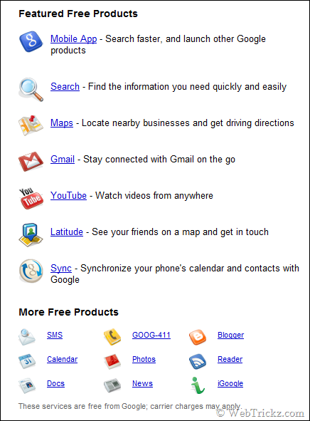 Free google services for mobile