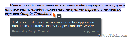 Google Translate Client - Easily translates any text
