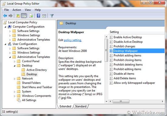 gpedit.msc desktop