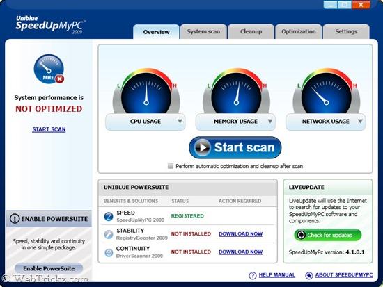 Uniblue SpeedUpMyPC 2009