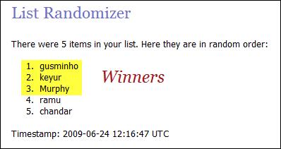 Contest Winners
