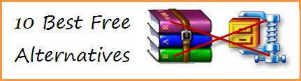10 Best Free Alternatives to WinRar and WinZip
