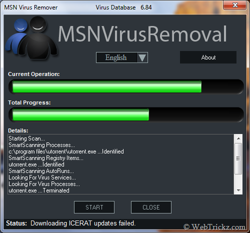 MSN Virus Removal tool