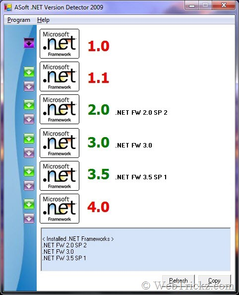 download asoft .net version detector 15