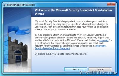 "Microsoft Security Essentials aka ""Morro'"