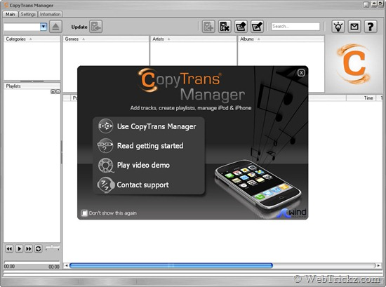 CopyTrans Manager -  Add music to iPhone & iPod Touch