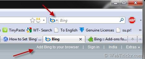 add bing search to firefox