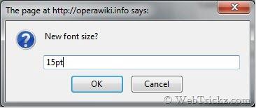 custom font size