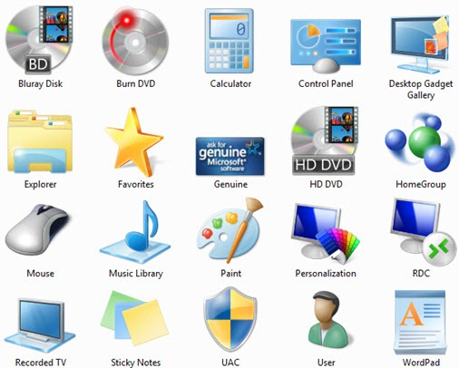 Windows 7 RTM Icons pack