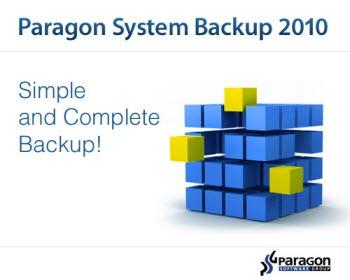 Paragon System Backup 2010