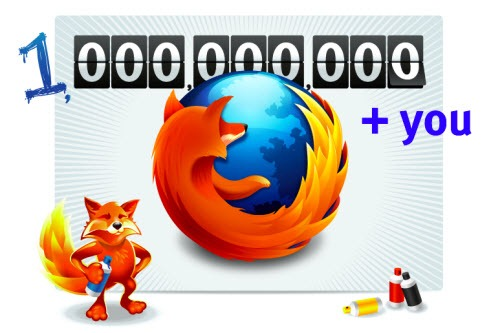 Firefox 1 Billion Downloads page