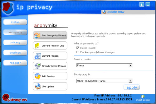 IP Privacy anonimity window