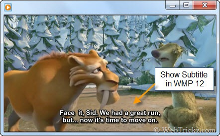 Show Subtitle in Windows 7 media player