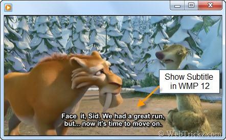 Show Subtitle in Windows 7 media player