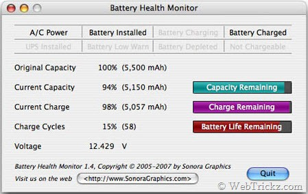 Battery Health Monitor for Mac