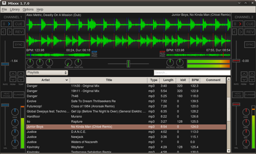 Mixxx - Free DJ software