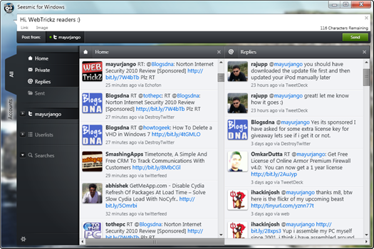 Seesmic for Windows - Twitter client