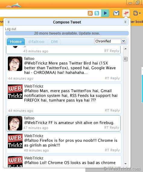 Chromed Bird - Twitter client for Chrome