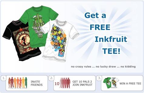 Free Inkfruit T-shirt