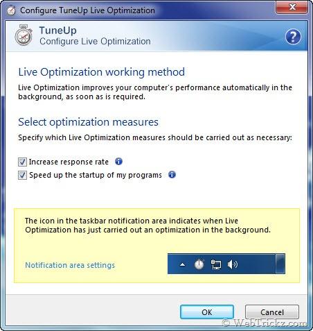 TuneUp Live Optimization