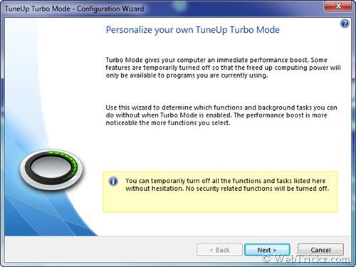 TuneUp Turbo Mode