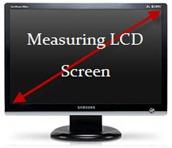 measuring LCD monitor