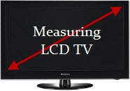 measuring LCD TV screen